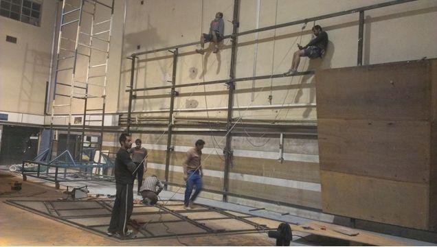 بازسازی دیواره سنگنوردی کوثر در کرمانشاه